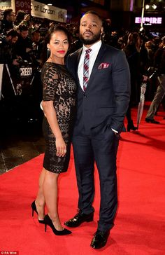 Director/Writer of the hit Marvel movie. Black Panther's Ryan Coogler and wife Zinzi Evans.