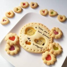 Cute Snacks, Cute Desserts, Cute Food, Cookie Recipes For Kids, Sweets Recipes, Coffee Recipes, Galletas Cookies, Cute Cookies, Sugar Cookies