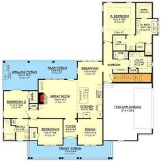 Classic 3 Bed Country Farmhouse Plan - 51761HZ | Architectural Designs - House Plans