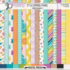 It's a Spring Thing | Digital Papers by Juno Designs and WendyP Designs