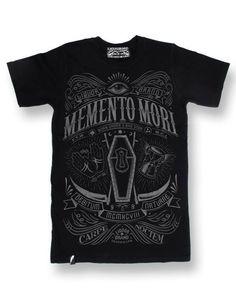 Liquor Brand Herren MEMENTO MORI T-Shirt.Tattoo,Biker,Oldschool,Custom Style