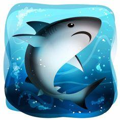 Tiburón toro - 334 / #365rounds #BICHOSmexicanos #illustrator #illustration #vector #conabio #mexico #shark