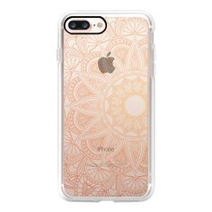 Ochre Mandala Lace - iPhone 7 Case, iPhone 7 Plus Case, iPhone 7... (£32) ❤ liked on Polyvore featuring accessories, tech accessories, phone cases, phones, electronics, other, iphone case, apple iphone case, slim iphone case and iphone cases