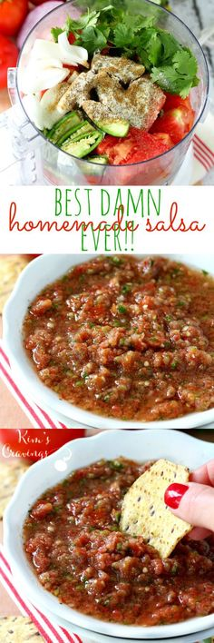 Best Damn Salsa Ever. Best Damn Salsa Ever - Recipes Instant. Best Damn Salsa Ever - The best damn salsa ever is bright, fresh and absolutely irresistible- loaded with delicious, vibrant flavor and come. Healthy Recipes, Mexican Food Recipes, New Recipes, Healthy Snacks, Cooking Recipes, Favorite Recipes, Vitamix Recipes, Best Dinner Recipes Ever, Damn Delicious Recipes
