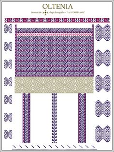 Embroidery Motifs, Learn Embroidery, Floral Embroidery, Embroidery Designs, Cross Stitch Flowers, Cross Stitch Patterns, Palestinian Embroidery, Cross Stitching, Romania