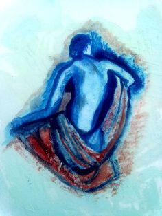 Study. Female nude. Oil.