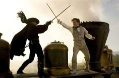 """The fight scenes in SF Ballet's """"Romeo & Juliet' are choreographed by Martino Pistone, stunt  coordinator, swordsman, and  also stuntman in movies such as 'The Mask of Zorro' (pictured)"""
