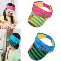 Sale 19% (3.01$) - Child Bear Stripe Sun-shading Hat Baby Sun Visor Hat