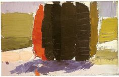 Nicolas de Staël - Artist XXè - Abstract Art - Cypresses - 1953