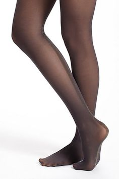 Tuxedo-Stripe tights, quirky but not too quirky. $22