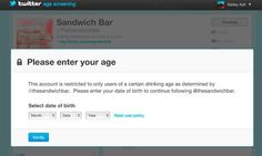 """As Twitter continues to offer brands advertising space, they are becoming concerned with advertising to minors. So, they have partnered with Buddy Media to """"Age-screen"""" followers -- an opt-in feature for brands with adult content to prevent minors from following them."""