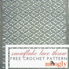 Can you crochet a blanket for everyone on your holiday gift list? With the free crochet blanket pattern for the Snowflake Lace Throw, it's a distinct – and beautiful – possibility! Disclaimer: This post includes affiliate links; yarn provided by Lion Brand. The Snowflake Lace Throw uses the negative spaces – the openings in the [...]
