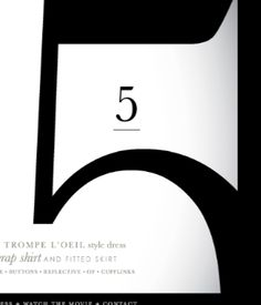 font... and the number.  Five like the painting.  You know the one, C'mon!