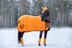 Fleecetäcke Funky Orange