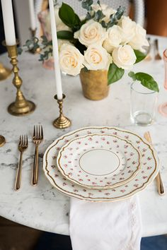 white roses & a sweet, simple Valentine's dinner for 2