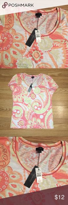 Talbots shirt Brand new with tags size small, very cute Talbots Tops Tees - Short Sleeve