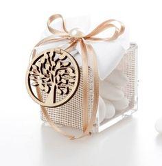 Bomboniera Albero della Vita scatola Plexiglass con confetti