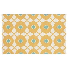 Check out this item at One Kings Lane! Hera Flat-Weave Rug, Old Gold