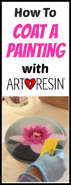 ArtResin's Rebecca walks us through creating an acrylic painting and coating it with super clear, super glossy ArtResin epoxy resin - designed by artists, for artists! #resin #artresin #howtoresinapainting #resina