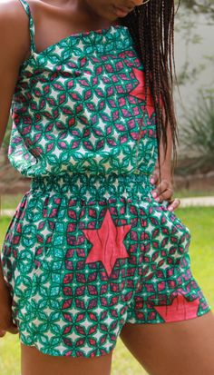 African Print Playsuit by ifenkili on Etsy
