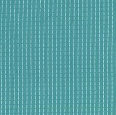 Running stitch in turquoise