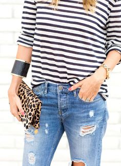 stripes & leopard & denim