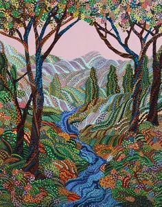 Erika Pochybova-Johnson  contemporary folk painter, Czech Slovak born, Texas artist.
