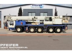 Used telescopic crane available at Pfeifer Heavy Machinery. Item Number PHM-Id 07078, Manufacturer GROVE, Model GMK5130L, Year of construction 2000, Kilometers 22842, Hours superstructure 13313, Loading (lifting) capacity (kg) 130000, Boom length maximum (m) 50, Fuel Diesel. More cranes at http://www.pfeifermachinery.com.