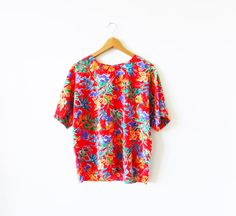 Boxy Vintage Floral Vintage Top by thehappyforest