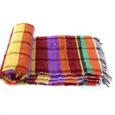Handloomed Rag Rug Yoga Mat Handmade Saree Chindi Carpet Rectangular Durrie Y798 #JodhpurRugs #RagRug