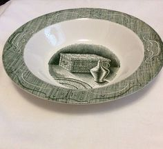 Royal China The Old Curiosity Shop Large Serving Bowl Used Green Antique  | eBay