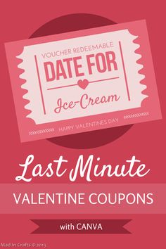 How to Make Last Minute Date Coupons - Mad in Crafts