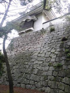 岡山城 石垣 2014.09.04