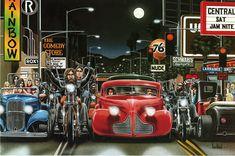 David Mann Motorcycle Biker Easyriders Centerfold Art Poster