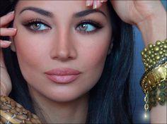 pretty makeup, nude lip