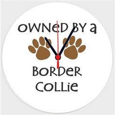 Köpekli - Owned By a Border Collie Kendin Tasarla - Duvar Saati 27cm