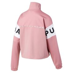 Jacket of tracksuit PUMA XTG for Woman Pink Size XL Apparel Cross Training, Adidas Jacket, Bomber Jacket, 1 Logo, Oldschool, Pumas Shoes, Spandex Material, Street Wear, Couture
