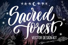 Sacred forest- big vector design kit by beauty drops on @creativemarket
