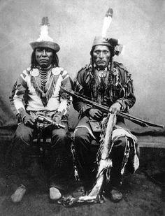 Arikara men. 1872. Photo by Captain Badger.