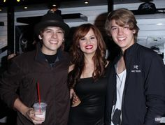 Dylan Sprouse, Debby Ryan, and Cole Sprouse Wow! They've grown!!