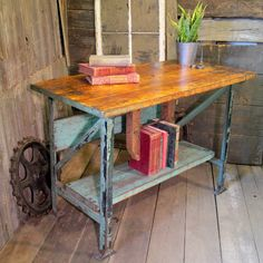 #industrialartifacts.net  #table                    #Vintage #Industrial #Workbench #Table              Vintage Industrial Workbench Table                                            http://www.seapai.com/product.aspx?PID=1518554