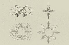 12 Handmade Sunbursts by VoxelFlux