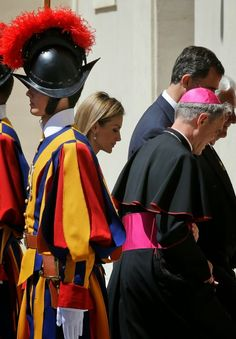30 June 2014 Pope Francis meets with King Felipe and Queen Letizia at the Vatican.