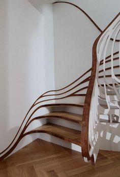 curved custom 3d staircase