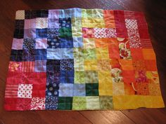 Baby doll rainbow patchwork quilt