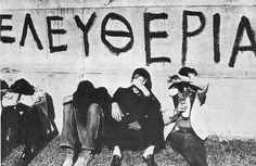 Το νέο νηπιαγωγείο που ονειρεύομαι : Τι έγινε , κυρία , στο Πολυτεχνείο ; Magnified Images, Greek Quotes, Good Old, Quotations, Graffiti, Greece, The Past, Fictional Characters, Art