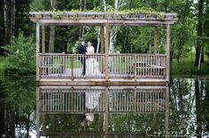 Holland Marsh Wineries Gazebo Holland Marsh Wineries Ceremony & Reception Venue Newmarket, Ontario #gazebo #wedding #winery #pond Credit: Captured Life