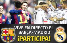 Sorteo de 1 entrada doble para el partido entre el Barcelona y Real Madrid