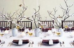 Centre de table arbre oiseau