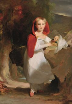 Thomas Sully, Sarah Esther Hindman in character of Little Red Riding Hood, 1883